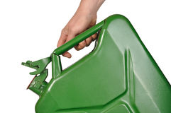 Hand with Jerrycan Royalty Free Stock Images