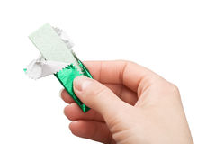 In hand kauwgom Stock Afbeelding
