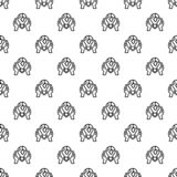 Hand keep global bulb pattern seamless vector stock illustration
