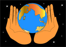 The hand keeping globe Royalty Free Stock Photo