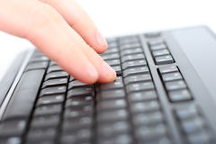 Hand On Keyboard Stock Images