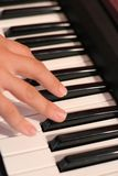 Hand on keyboard Royalty Free Stock Photography