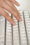 Hand and keyboard Stock Photos