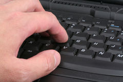 Hand and Keyboard close-up Stock Photography