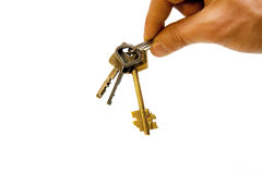 Hand with keys Royalty Free Stock Photo