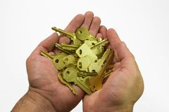Hand and keys II Stock Photography