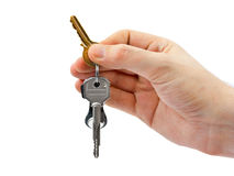 Hand and keys Royalty Free Stock Images