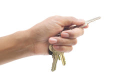 Hand and keys. Royalty Free Stock Images