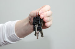Hand with keys Stock Image