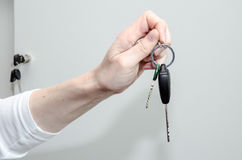 Hand with keys Royalty Free Stock Image
