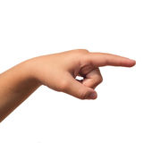 Hand kid on white blackground royalty free stock images