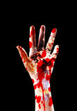 Hand Of A Killer. The hand of a serial killer covered in blood Royalty Free Stock Photo
