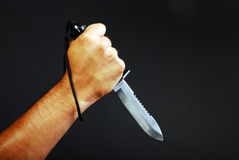 Hand With Knife Stock Photos