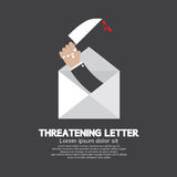 Hand With Knife Threatening Letter Concept Royalty Free Stock Photography
