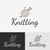 Hand knit logo, badge or label. royalty free illustration