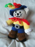 Hand Knitted Cat Toy Royalty Free Stock Images
