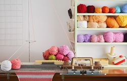 Hand Knitting Machine. Royalty Free Stock Images