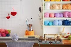 Hand Knitting Machine. Royalty Free Stock Photography