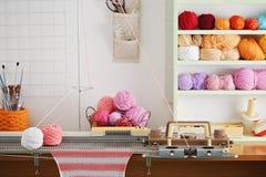 Hand Knitting Machine. Royalty Free Stock Image