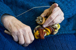 Hand knitting. Stock Images