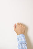 Hand is knocking on the door Stock Photos