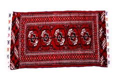 Hand knoted rug from Turkmenistan Stock Image