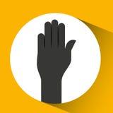 Hand language design. Illustration eps10 graphic Royalty Free Stock Photo