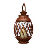 Hand Lantern. 3D digital render of a hand lantern isolated on white background Royalty Free Stock Photos