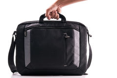 Hand with a Laptop Bag Royalty Free Stock Photo