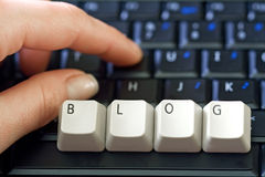 Hand and laptop keyboard Royalty Free Stock Images