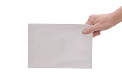 Hand & large envelope Stock Photography