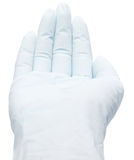 Hand in latex glove Stock Photography