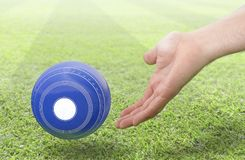 Hand And Lawn Bowl Stock Photography