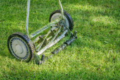 Hand lawn mower close up Royalty Free Stock Photo