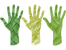 Hand leaf Royalty Free Stock Images