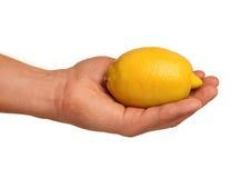 Hand with lemon Royalty Free Stock Photo