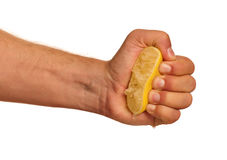 Hand with lemon Royalty Free Stock Images
