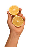 Hand with lemon Stock Image