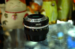 Hand lens. The application of traditional hand lens Royalty Free Stock Photo