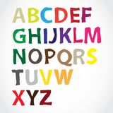 Hand lettered alphabet Stock Images