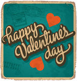 Hand-lettered vintage valentines card (vector) Stock Photography