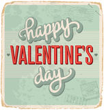 Hand-lettered vintage valentines card (vector) Stock Images