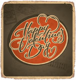 Hand-lettered vintage valentines card (vector) Royalty Free Stock Photo