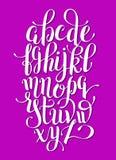 Hand lettering alphabet design, handwritten brush script modern Stock Photos