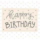 Hand lettering birthday greeting card Royalty Free Stock Photos