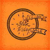Hand lettering Black Friday and design elements Stock Image
