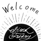 Hand lettering Black Friday and design elements Royalty Free Stock Photo