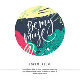 Hand lettering card Stock Photos