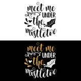 Hand lettering Christmas quote royalty free illustration