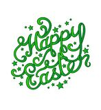 Hand lettering Easter Greetings Stock Images